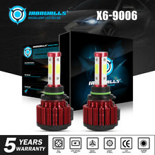 IRONWALLS 2000W 300000LM 4 Sides LED headlight 9006 HB4 HID 6000K White bulbs