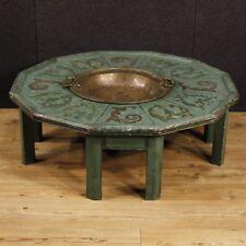 Tavolo basso da salotto mobile tavolino laccato legno dipinto stile antico 900