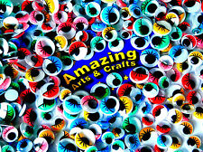 500 Self Adhesive Wiggle Wiggly Googly Eyes with Lashes 10mm 12mm 15mm