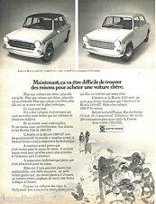 PUBLICITE ADVERTISING 085  1971  AUSTIN & MORRIS  1300 GT