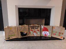 Personalised Hand Made Hessian Jute Christmas Eve Bag Box