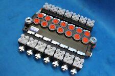 HYDRAULIC BANK MOTOR 7 SPOOL VALVES 80 L/MIN ELECTRIC 12V