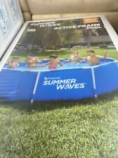 """New listing Summer Waves 10' x 30"""" Active Metal Frame Pool W/ Filter Pump - Ships Now"""