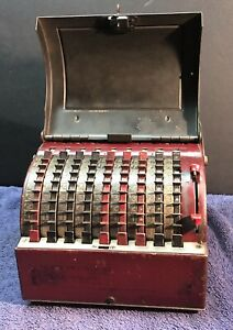 Antique Todd Visible Adding Machine patent 1921 with key