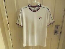 Fila Legend Men's Size Tennis Shirt White Crew TMO15365 New w/Tags