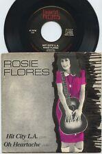 Rare Rock 45 & Pic Sleeve - Rosie Flores - Hit City L.A.- Request # 45001 - M-