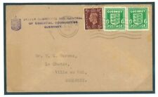 J283 1941	GB GUERNSEY WW2 Occupation Period Official Combination Franking