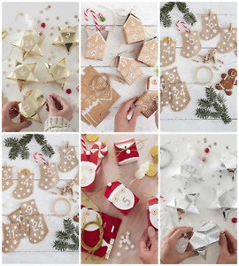 Gold/Silver Star shaped Christmas Advent Calendar boxes