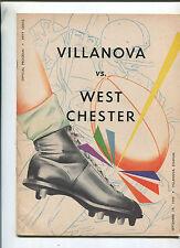 Villanova Vs West Chester Sept 19, 1959  Football Program  MBX68