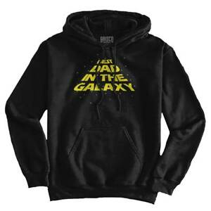 Best Dad The Galaxy Nerdy Fathers Day Gift Mens Long Sleeve Hoodie Sweatshirt