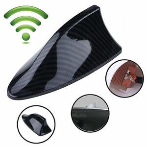 1x Carbon Fiber Waterproof Car Shark Fin Roof Antenna Radio AM/FM Signal Aerial