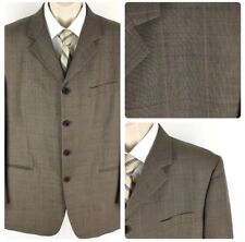Phat Farm Brown Four Button Window Pane Sport Coat Blazer Size 44R Regular