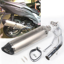 """EXHAUST SYSTEM Carbon Fiber Tips Long MUFFLER For KYMCO XCITING 400 570mm 22.4"""""""