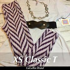 lularoe Outfit XS Classic Grey Stripe OS Chevron Rose Navy Snake Skin Leggings