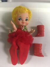 Remco Ballerina Finger Ding Doll 1969 Red Dress