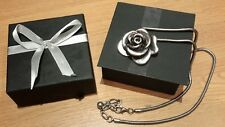 Rose Shaped Pendant Necklace with Giftbox- never worn