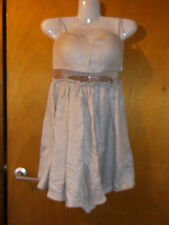 Goldie Strappy Bandeau Mesh-Insert  Dress XS UK8 Beige Sparkle BNWT