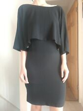 BNWT ADRIANNA PAPELL PARTY COCKTAIL EVENING BLACK BODYCON DRESS LBD SIZE 6/8