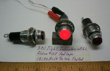 3 OIl Tight Indicators DIALCO #125 for Min.Bay Bulbs, Red Caps, Lot 61,   USA
