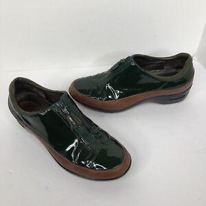 Cole Haan Women's Waterproof zip up Green  Patent Womens Shoes 8 nikeair