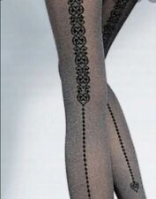 Fiore Navarra Melange Tights Mocca Small 40 DEN Stockings Lingerie Glamourous
