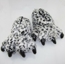 New Leopard White Black lilo and Stitch Adult Indoor Plush Paws Slippers Shoes