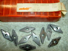 X10 Carboloy Carbide Inserts VNMG 160412 K20 NEUF