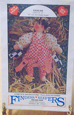 Uncut Excelsia Straw Doll Pattern Finders Keepers Factory Folded 1989 #161 Vtg