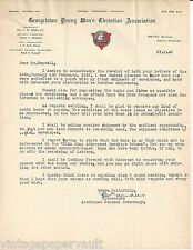 1948 LETTER SIGNED BY FOUNDER OF BWI STUDY CIRCLE PHILIP T.SAUNDERS /GEORGETOWN