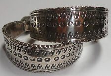 RARE Pair Antique SILVER Moroccan Berber Ethnic Tribal BRACELETS- Imperial City