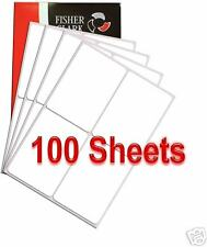 4 per A4 SHEET x 100 Quality ADDRESS LABELS FREE P&P