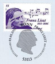 BRD 2011: Franz Liszt Nr 2846 mit sauberem Bonner Ersttags-Sonderstempel! 1A 159