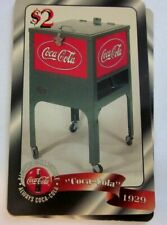 1996 Coca - Cola $2 Coke Cooler phone card by Sprint, free ship