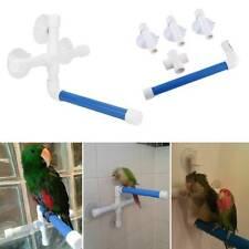Parrot Toy Standing Rack Wall Mount Parrot Bath Shower Perch Parakeet Bird Toy K