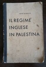 "Book ""Il Regime Inglese In Palestina"" by Gert Winsch / Berlino 1940"