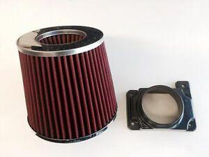 RED Intake Filter + MAF Sensor Adapter For 91-99 Dodge 3000GT 3.0L V6 turbo& N/A