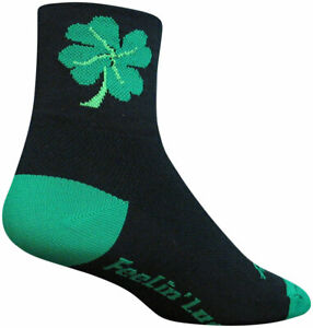 SockGuy Classic Lucky Socks - 3 inch Black Large/X-Large