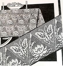 "Reproduction 1802 Antique /""YOUR FAVORITE CHAIR SET/"" Filet Pattern to Crochet"