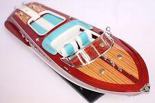 "RIVA AQUARAMA BOAT 21"" (53cm). Wood yacht model miniature."