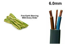 6mm Electrical Electric Cable Wire Twin and Earth Domestic Cooker Shower T&E