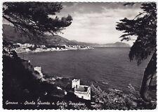 GENOVA CITTÀ 588 STURLA - QUARTO Cartolina FOTOGRAFICA VIAGGIATA 1953