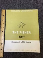 Fisher 450-T AM FM Stereo Tuner Original Owners Manual Pages 16