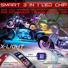 10PC Motorcycle LED Neon Under Glow Lights Kit For Harley Davidson 60 Pod LEDs