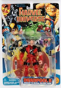 "1996 Marvel Universe 5"" DEADPOOL II Unmasked Action Figure ToyBiz NEW OLD STOCK"