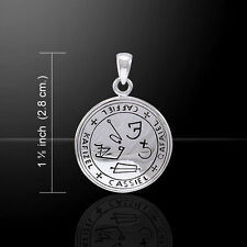 Sigil of Archangel Cassiel .925 Sterling Silver Pendant by Peter Stone Jewelry