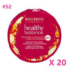 20pcs BOURJOIS Healthy Balance Compact Foundation Powder 52 Vanilla,100%sealed