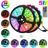 Durable 5M 16.4ft 300 LED RGB 3528 SMD Strip Light Flexible 12V+Remote Party