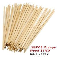 100x Cuticle Pusher Orange Wood Stick Manicure Pedicure Nail Design Eco Tool
