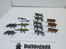 Lot of 13 Animal Plastic Figure Figurine Toy Hippo Shark Rhino