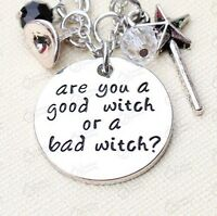 "Wizard Of Oz / Wicked  ""Are You A Good Witch Or A Bad Witch"" Pendant Necklace"